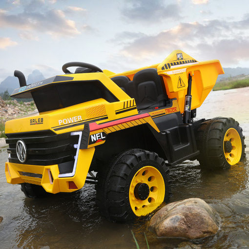 kids mining dump truck yellow