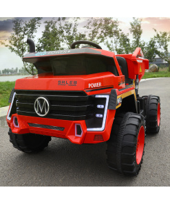 red mining truck for kids